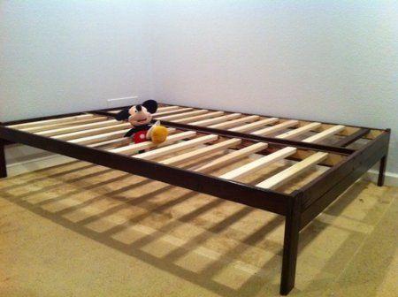 Best Amazon Com Full Size Nomad Platform Bed Frame Solid 400 x 300