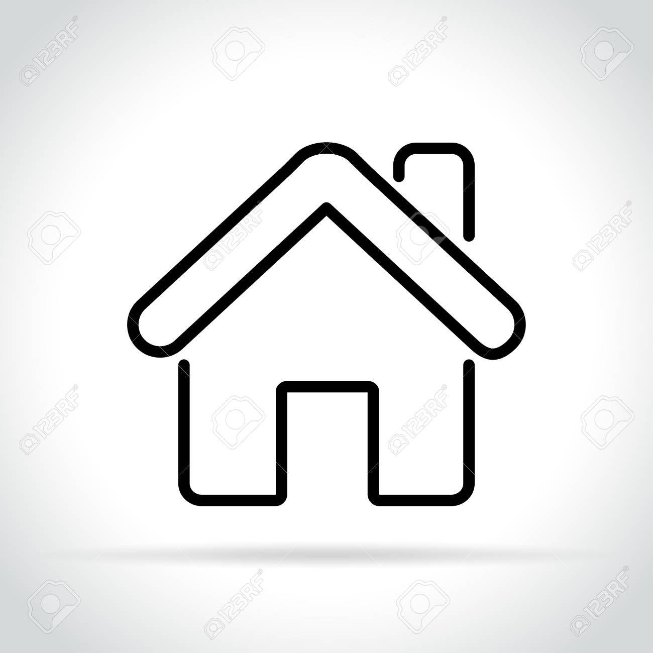 Illustration Of Home Icon Sponsored Illustration Home Icon Home Icon Fitness Logo Design Logo Design