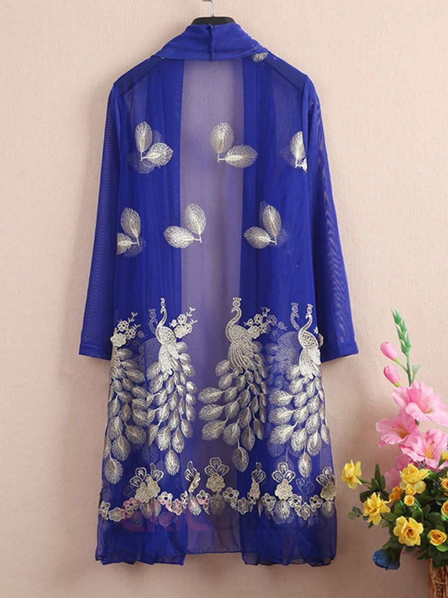 Ericdress Elegant Embroidery Sun Protective Clothing 2