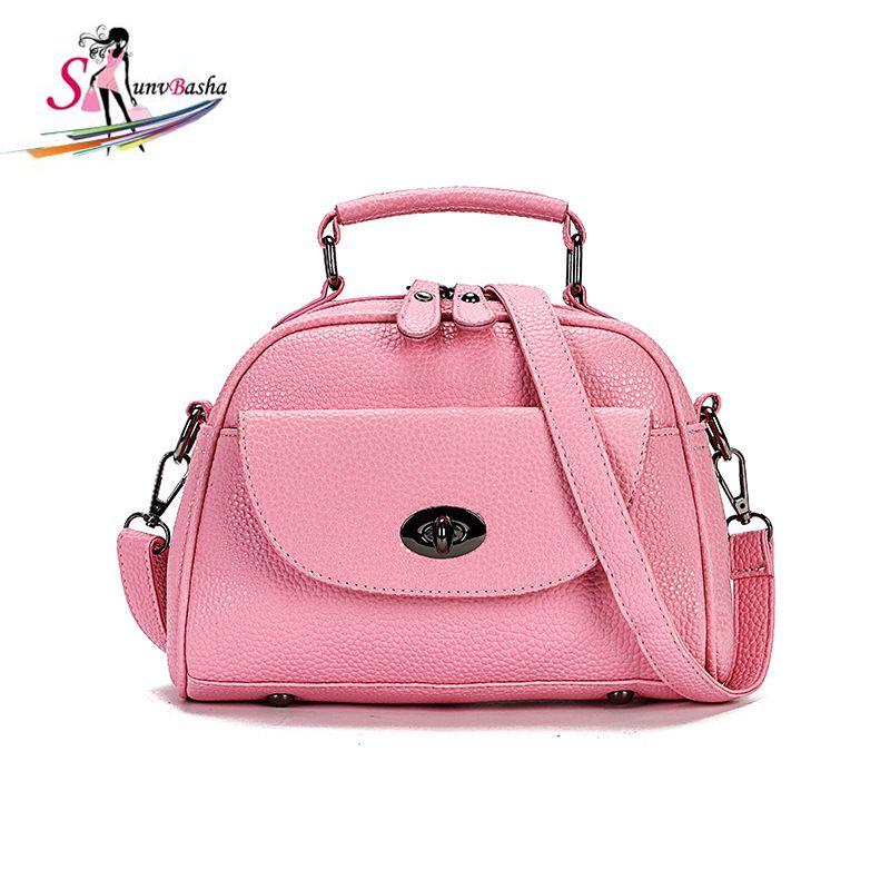 Female Handbag 2017 European American New Pu Leather Shoulder Bag Fashion Lychee Pattern