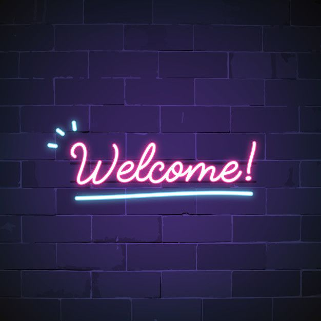 Download Welcome In Neon Sign Vector for free | Neon signs ...
