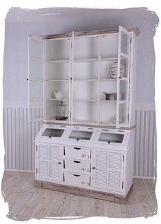 vitrinenschrank shabby chic k chenbuffet vintage k chenschrank weiss k chenbuffet. Black Bedroom Furniture Sets. Home Design Ideas