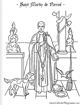 Print And Color This Page For The Feast Of Saint Martin De Porres St Coloring Pages Religious