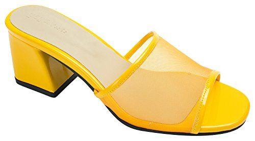 6a9e890032b1 AnnaKastle Womens Mesh Strap Heel Mule Sandal
