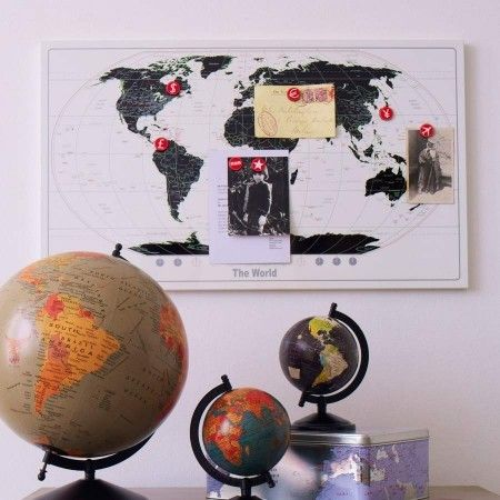 World map magnetic board design ideas pinterest bulletin board world map magnetic notice board modern bulletin board gumiabroncs Choice Image