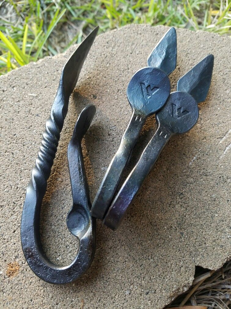 Custom oyster shuckers blacksmithing oysters