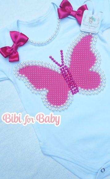 40c461047 Body 100% em algodão!! Fazemos em outras cores e temas! Aplicação de  barboletinha! Se desejar podemos acrescentar o nome da criança! Informe  após a compra!