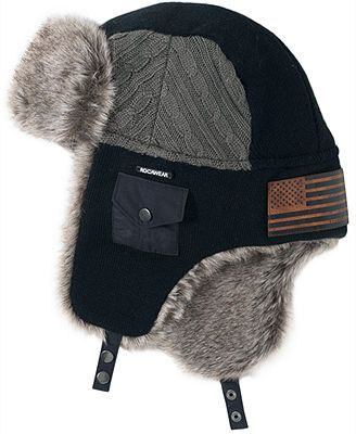 Rocawear Accessories, Cable Knit Trapper Hat | Trapper hats