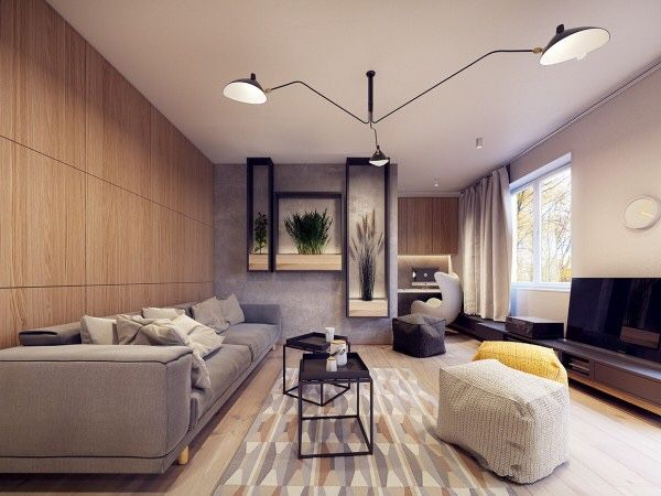 Visualisation of an apartment in warsaw poland by plasterlina architects