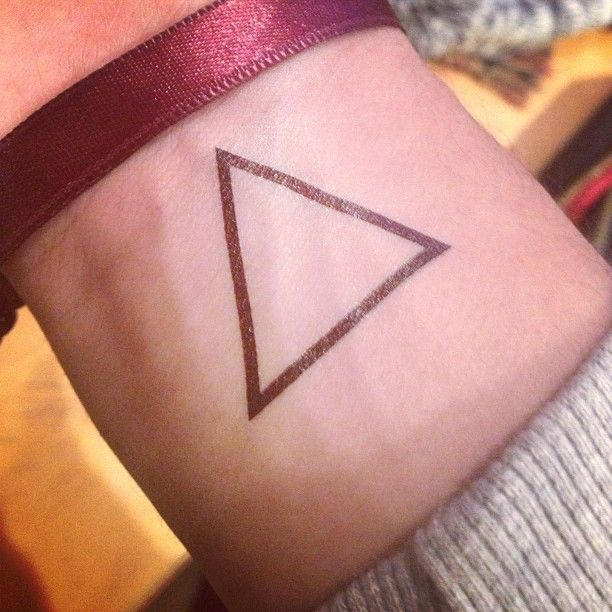 The triangle is the mathematical sign for change, everything changes