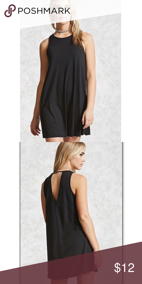 Black back cutout dress