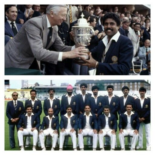 Proud Moment 1983 World Cup In Cricket Won By Kapil S Devils As Fondly Called World Cricket Cricket Cricket Bat