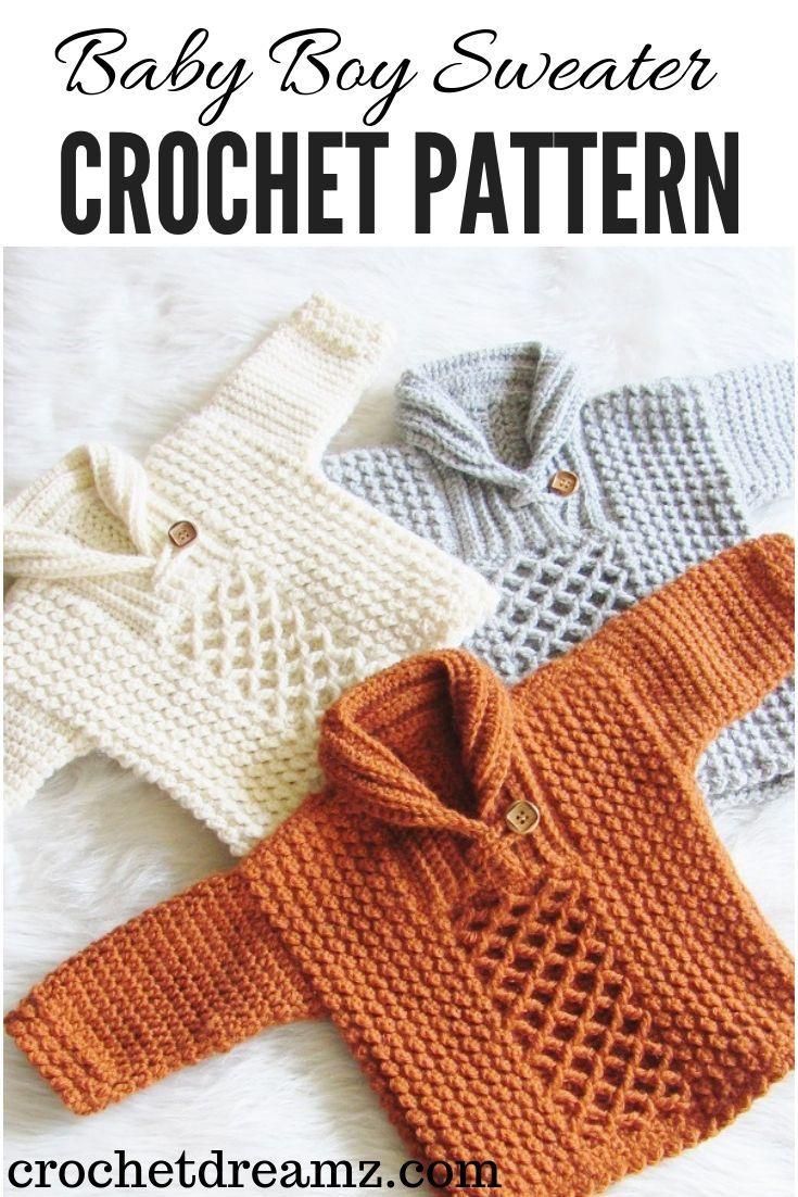 Photo of Häkeln Sie Baby Boy Sweater Pattern in 7 verschiedenen Größen. Machen Sie einen für Ihr kleines … – schnittmuster