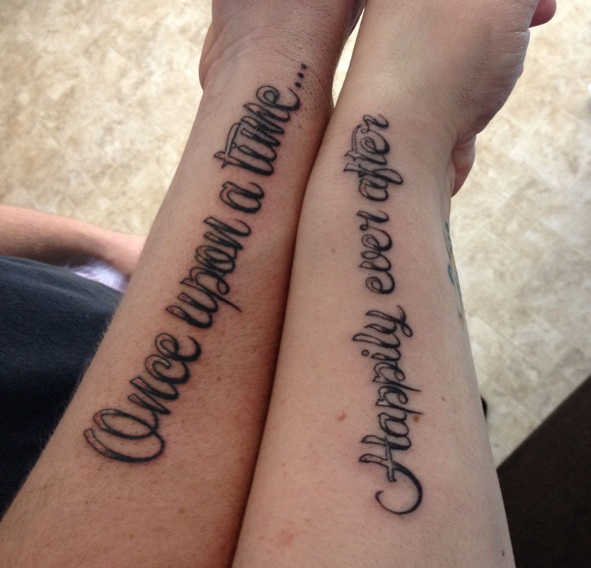 Love Quotes Tattoos For Couples Couple Tattoomy Bf And Myselfcause We Will Love Happily Ever