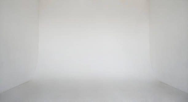 Clear Light White Wall Empty Photo Studio Cyclorama Background