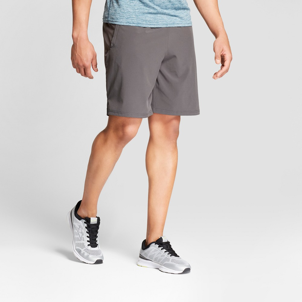 b9ce5922626 The Men s 9 Woven Run Short from C9 Champion stays in place and keeps you  dry with an inner brief that wicks and dries fast. Stretch fabric provides  range ...