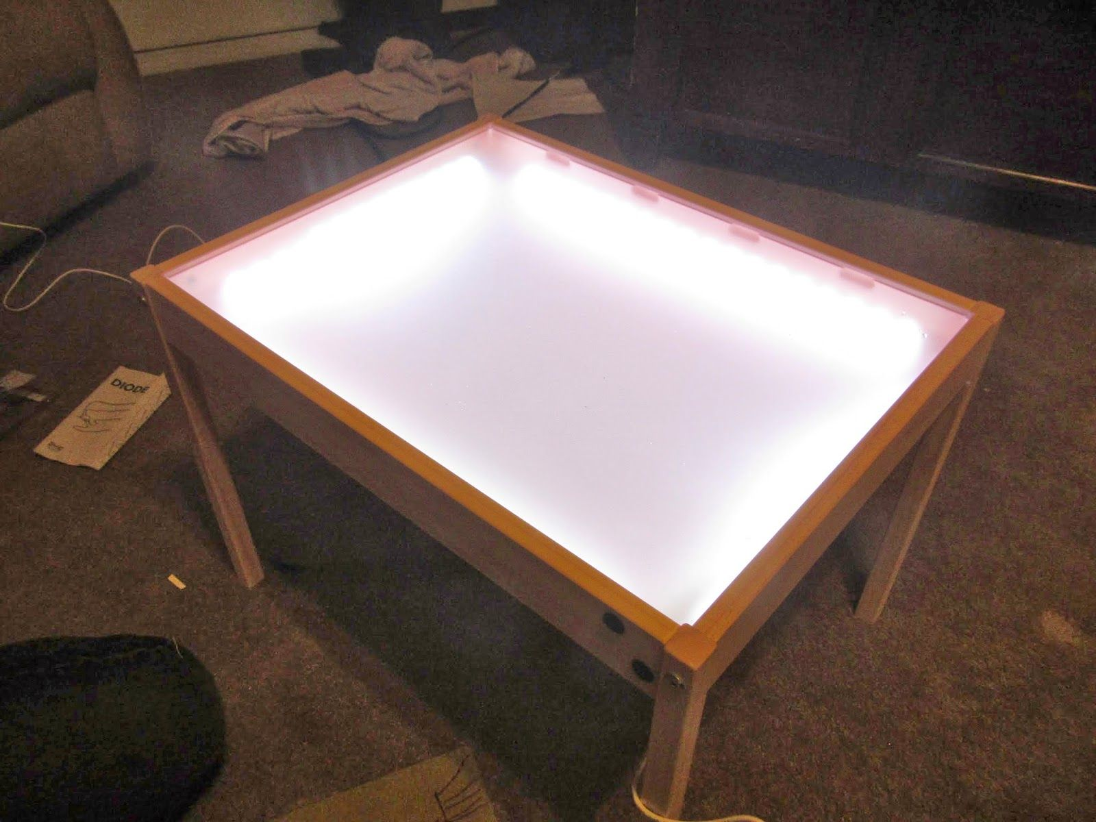 hobby mommy creations diy light table ikea hack home pinterest diy light table diy. Black Bedroom Furniture Sets. Home Design Ideas
