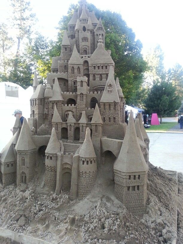 Sand castles are beautiful