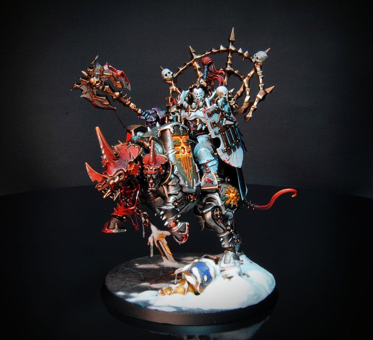 Peindre Decor Warhammer Age Of Sigmar Khorne Bloodbound Khorne Lord On Juggernauth