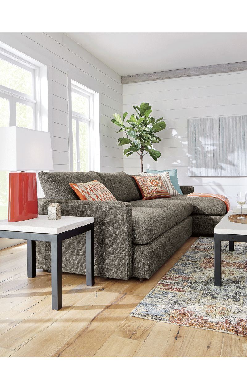 Lounge II 2-Piece Sectional Sofa - Crate and Barrel | Sectional ...