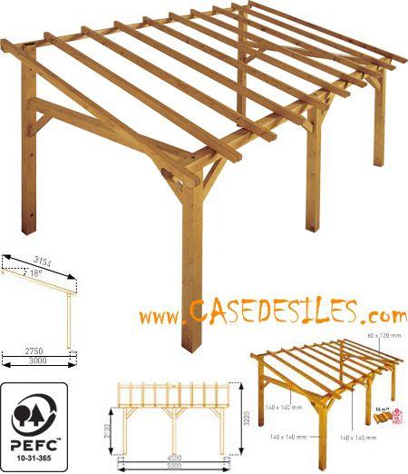 Abri terrasse bois à Prix Cassé  Abri de terrasse bois 15mc - prix d un garage en bois