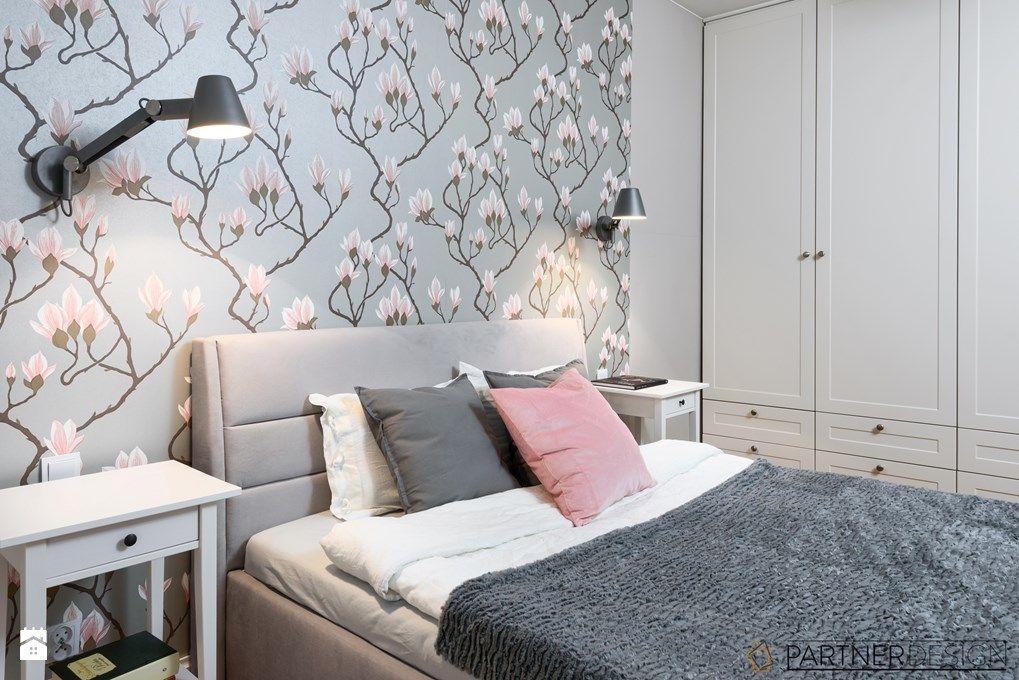 Tapeta W Kwiaty W Sypialni ściany Sypialnie Dekoracje