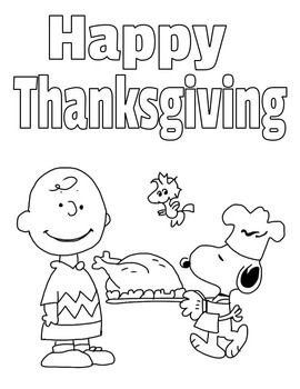 A Charlie Brown Thanksgiving Activity Packet Charlie Brown