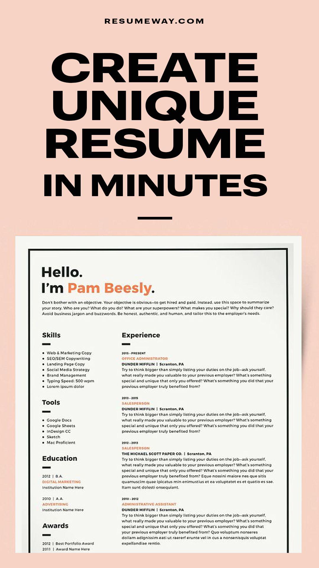 Classic Resume Template 120410 (color orange) Resumeway
