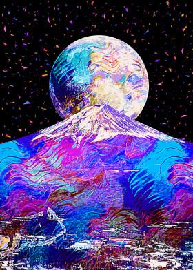 Full Moon by Gab Fernando | metal posters - Displate | Displate thumbnail