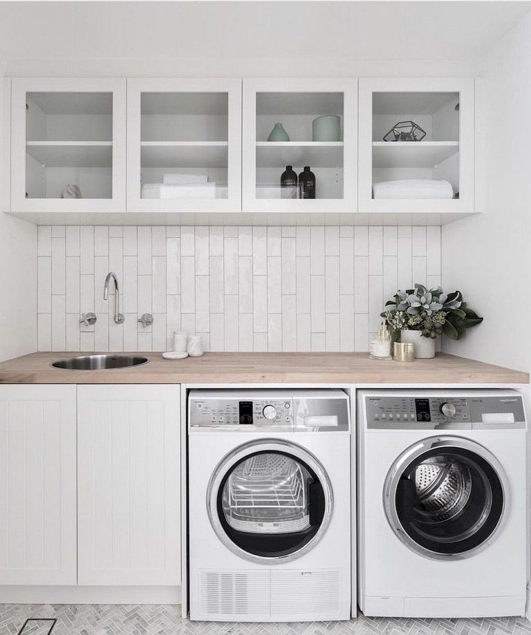 98+ Cool Modern Farmhouse Laundry Room Ideas images