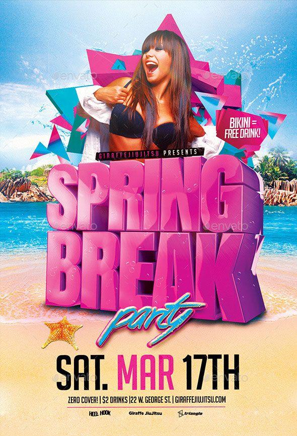 Spring Break Flyer Template Stuff To Buy Pinterest Flyer