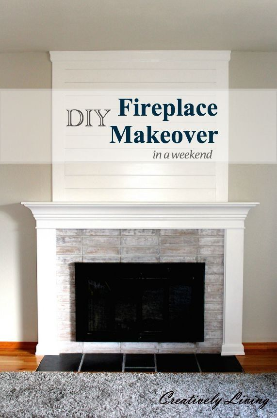 DIY Fireplace Makeover....in One Weekend, Under $100! in ...