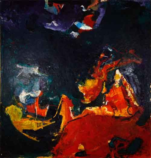 "Lynn Faus, Untitled, 1965, Oil on canvas, 62 1/2"" x 60"""