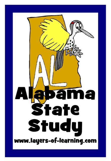 Alabama state study alabama activities and social studies alabama state study includes printable map and activity ideas fandeluxe Image collections