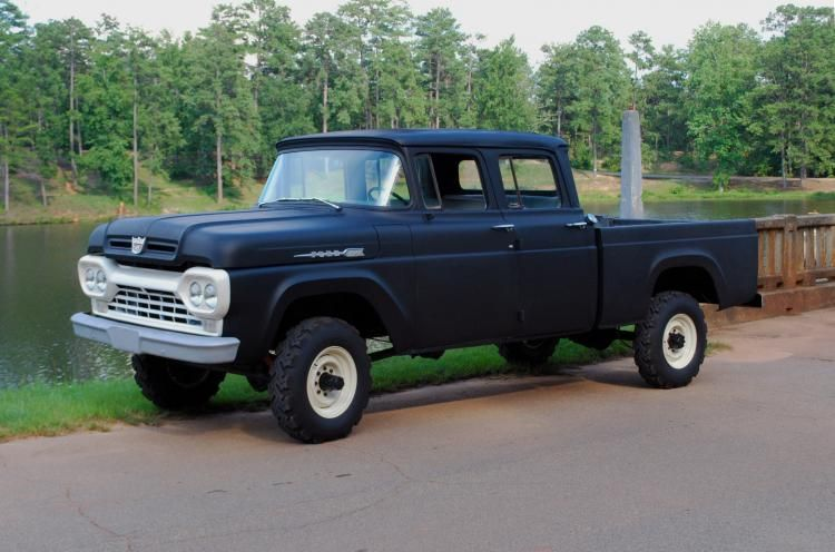 1960 Ford Crew Cab F250 4x4 Ford Crew Cab Trucks Classic Ford