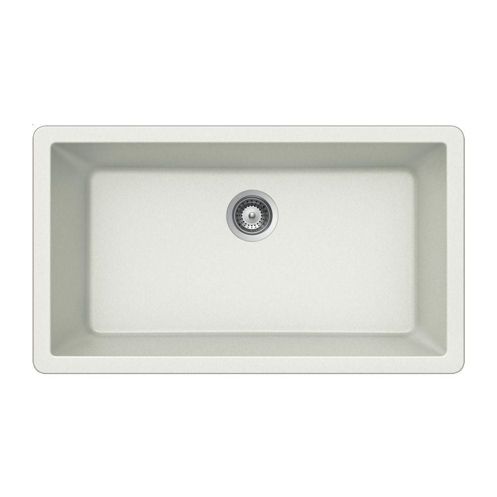 Houzer Quartztone Undermount Granite Composite 33 In Single Basin