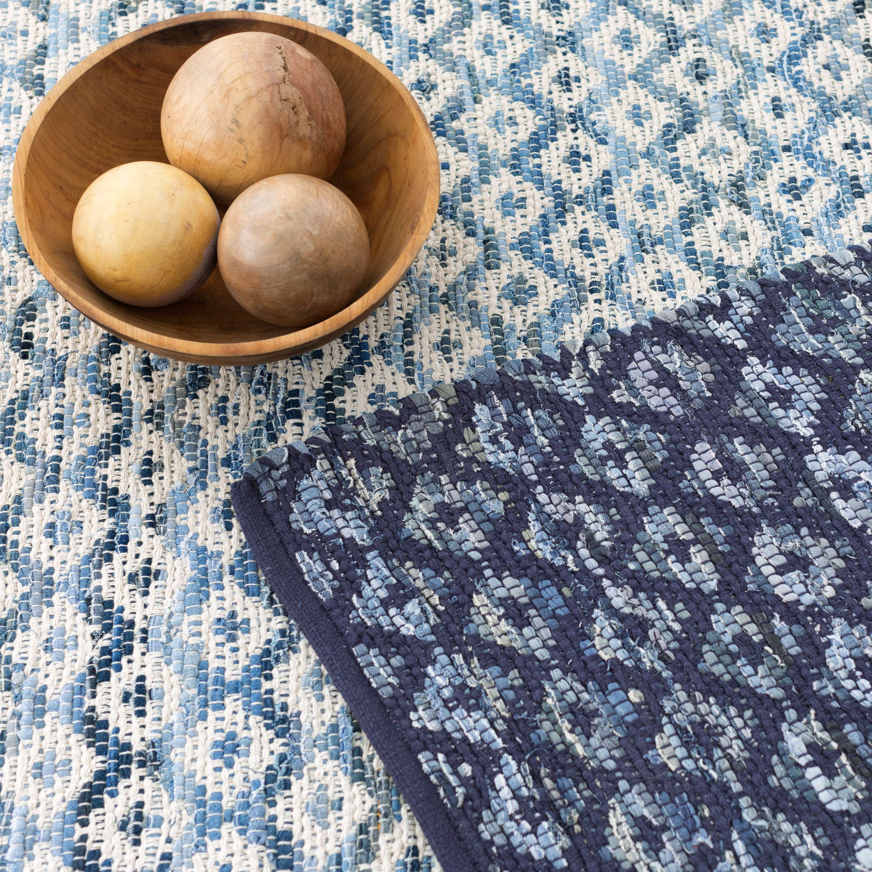 Denim Rag Diamond Ivory Woven Cotton Rug Dash Albert Dash And Albert Rugs Cotton Rug Rugs On Carpet