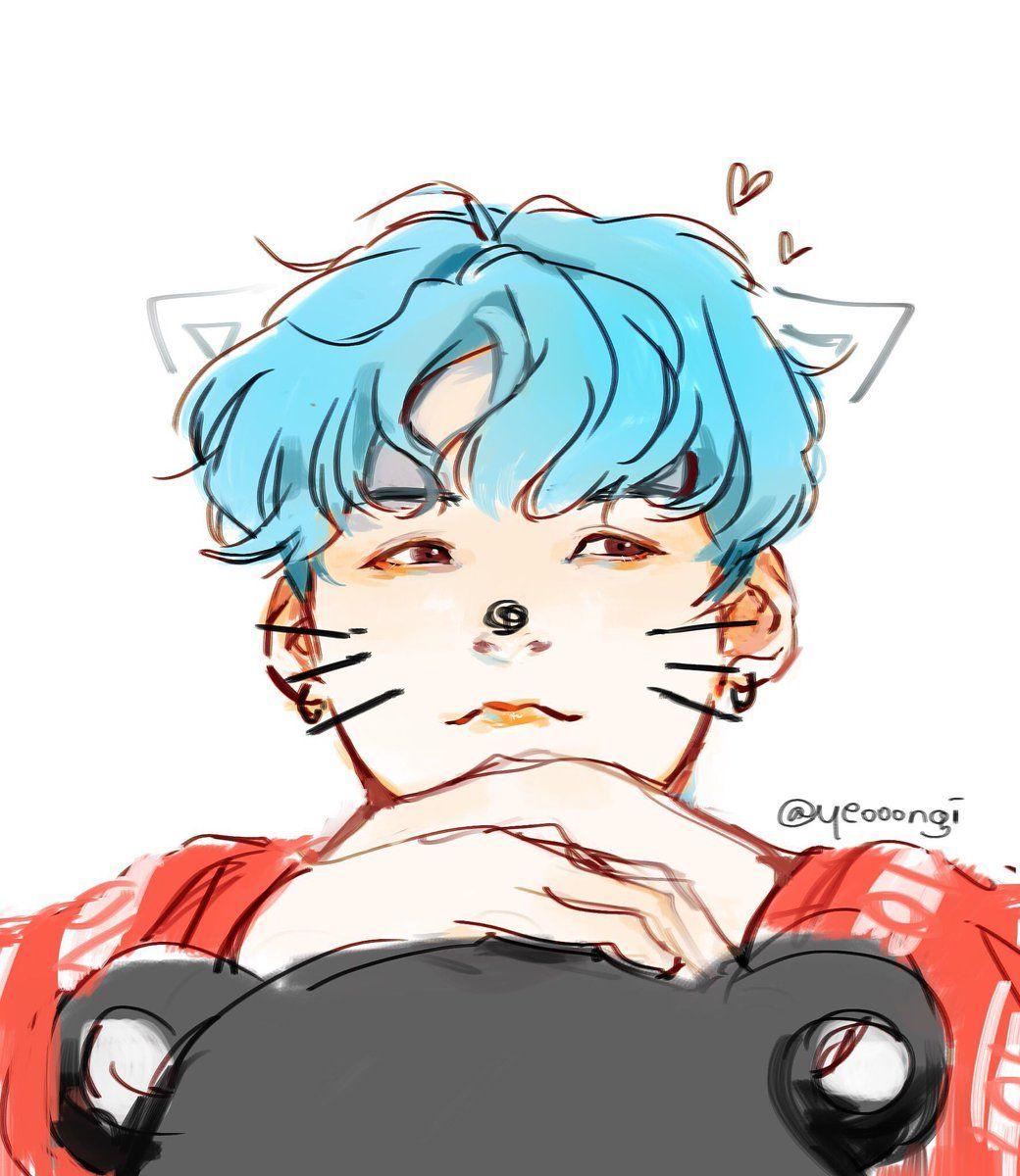 Su meow meow Bts chibi, Bts fanart, Zeichnungen