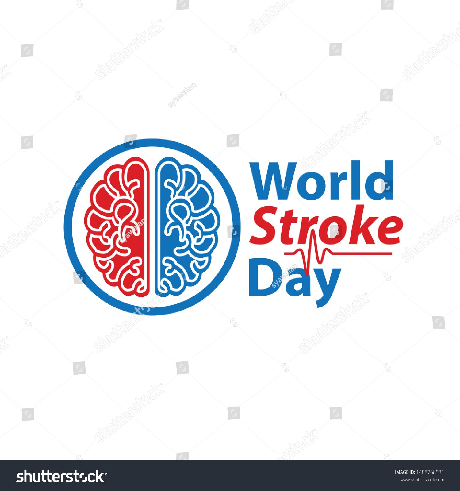 Vector Illustration Of World Stroke Day Health Care Campaign Ad Ad World Stroke Vector Illustration World Stroke Day Vector Illustration Health Care
