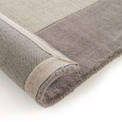 Photo of benuta Wollteppich New Frame Grau 160×230 cm – Naturfaserteppich aus Wolle benuta