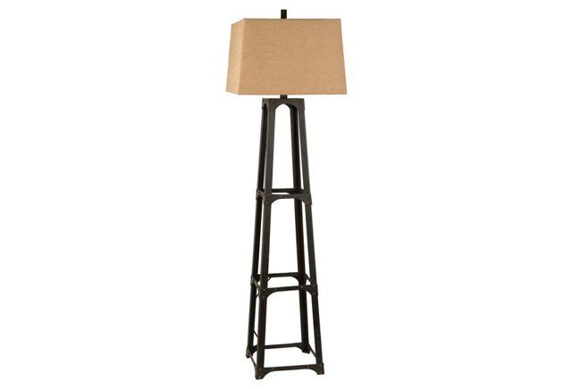Industrial Step Floor Lamp Bronze Bronze Floor Lamp