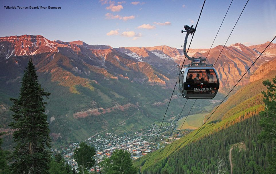 Talk about a view overlooking telluride telluride
