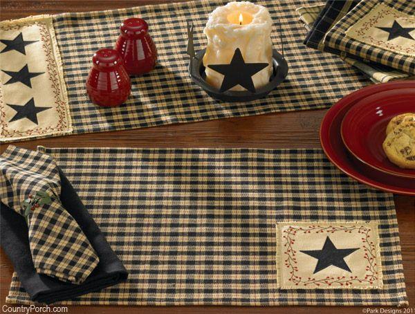 Park Designs Star Patch Kitchen Decorating Theme Kitchen Placemats Kitchen Decor Themes Elegant Kitchen Decor