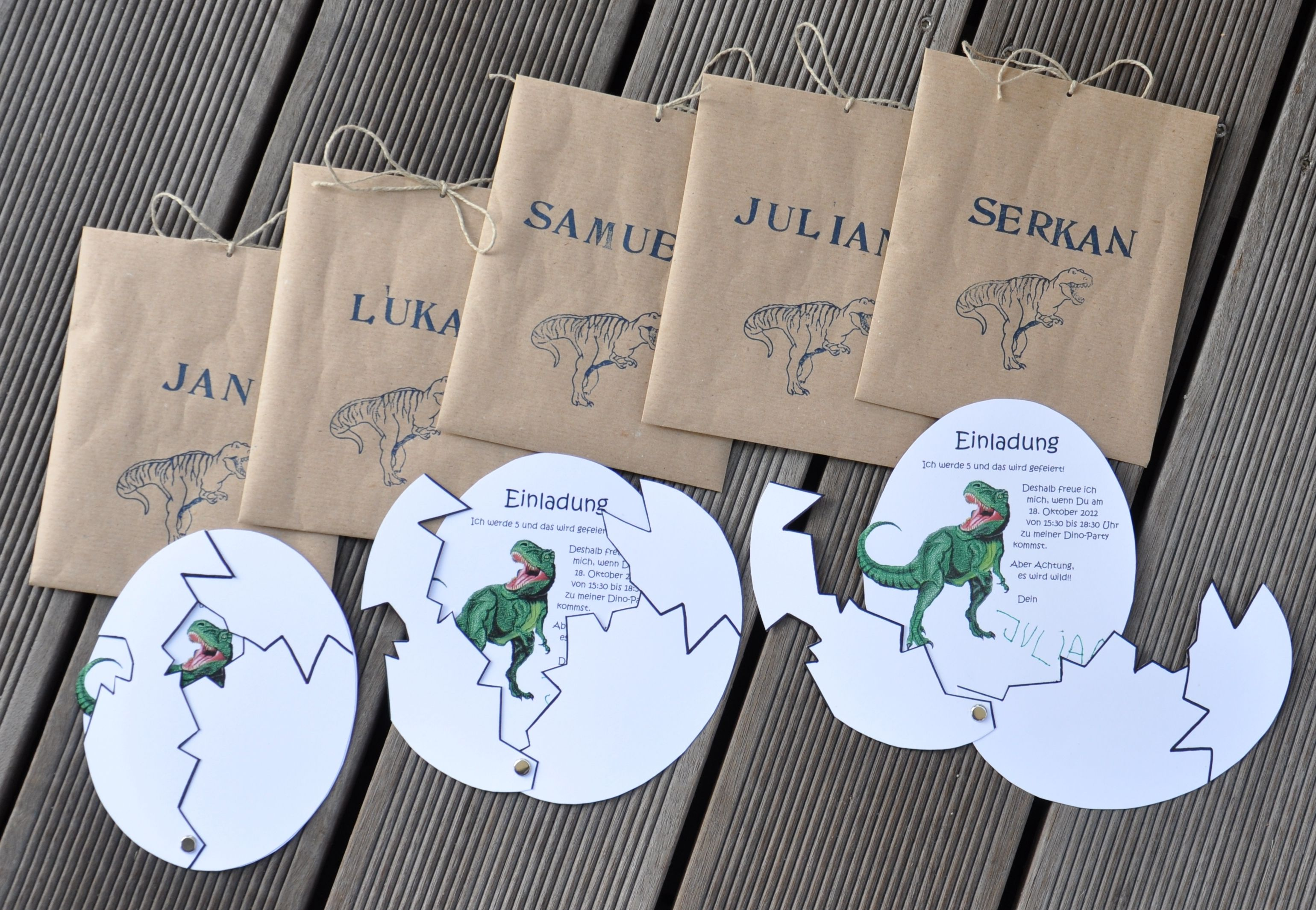 Dino Party Einladungen DIY Pinterest