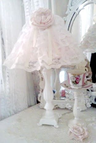 Image detail for -Olivia's Romantic Home: Shabby Chic Lamp Shade Satin Rosette