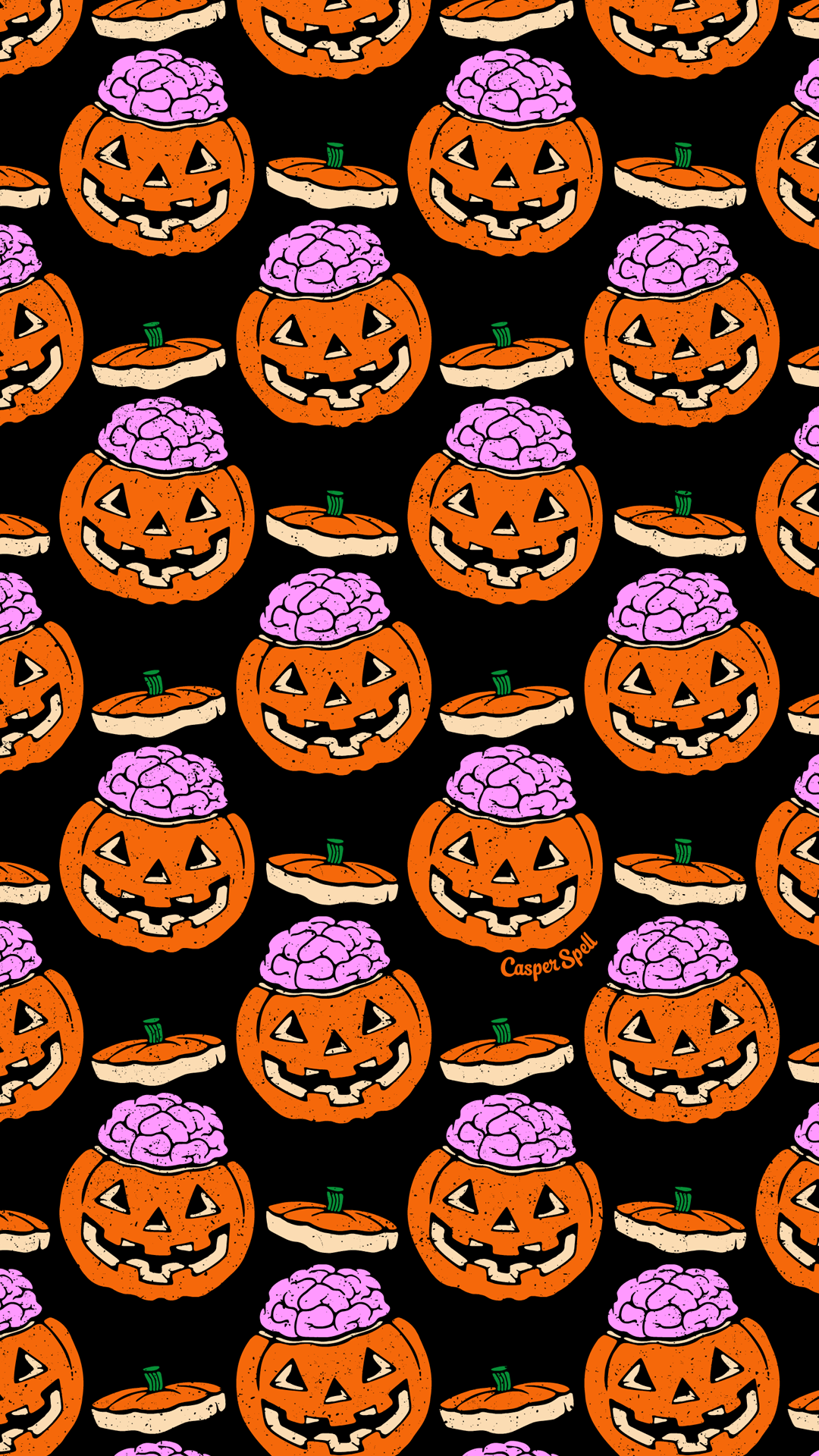 Halloween On The Brain Pattern For You Feel Free To Save As Your Phone Lock S Halloween Wallpaper Iphone Halloween Wallpaper Backgrounds Halloween Wallpaper