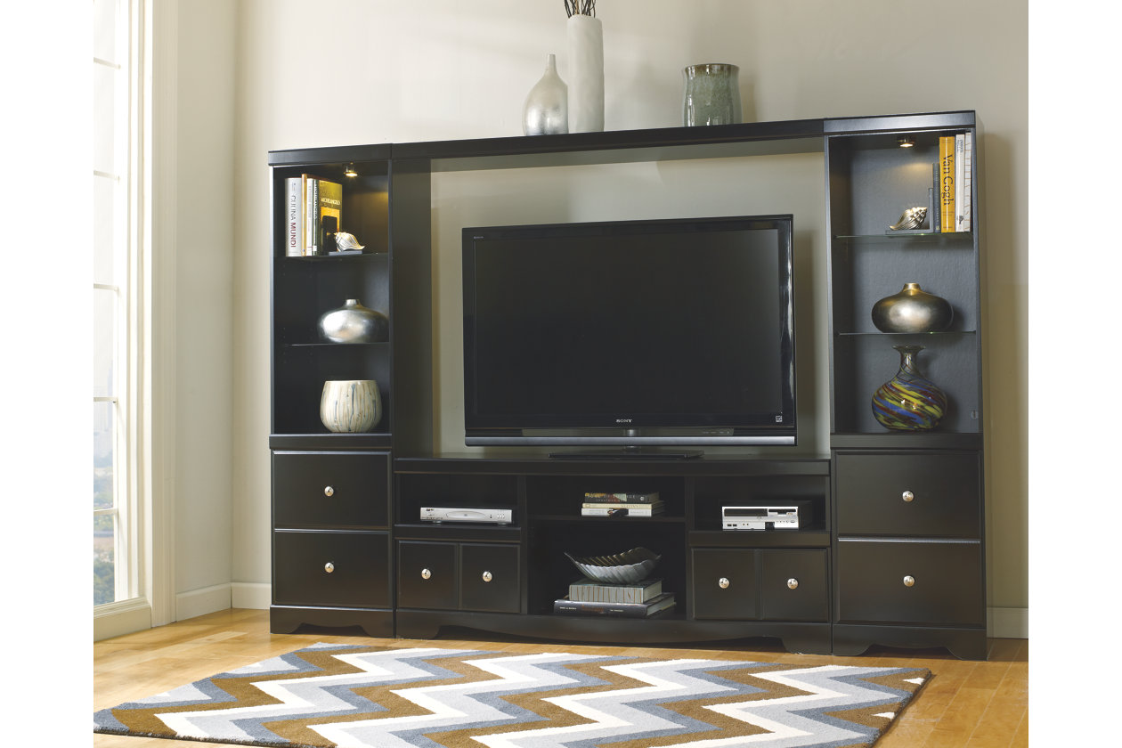 Shay 4Piece Entertainment Wall Unit Ashley Furniture