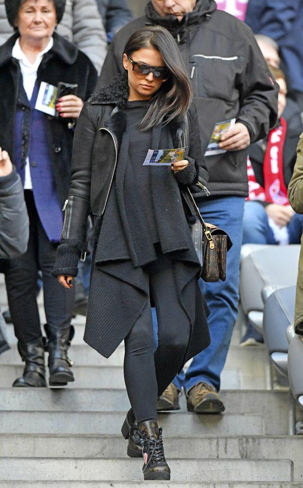 Ciezarna Anna Lewandowska Kibicuje Mezowi Zdjecia Pudelek Fashion My Style Leather Jacket