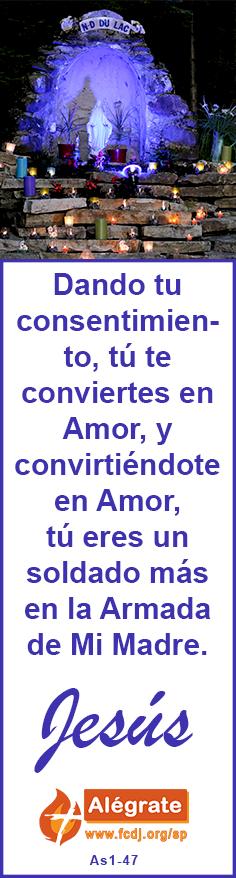 Dando tu consentimiento, tú te #conviertes en #Amor, y convirtiéndote en Amor, tú eres un #soldado más en la #Armada de Mi #Madre. #jesus #citadeldia