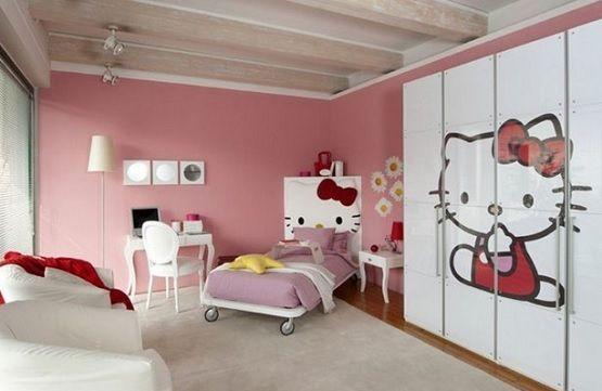 hello kitty bedroom furniture. White Wardrobe Hello Kitty Bedroom Furniture | Home Interiors